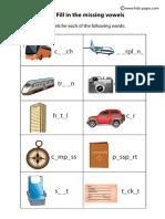 Travel Fill In worksheet