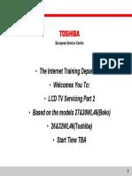 Toshiba 32wl46 Training