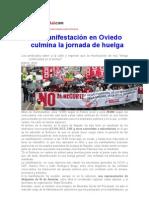 Jornada de Huelga de Los Funcionarios en Asturias