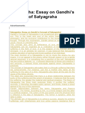 what are the techniques of satyagraha