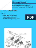 Lines Plan and Main Particulars