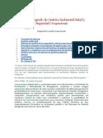 Sistema Integrado de Gestión Ambiental