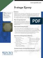 B Stage Epoxy