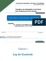 Clases de Electricidad Desde Ley de Coulomb Hasta Potecial