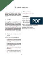 Acantosis nigricans