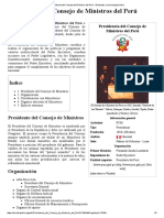 Presidencia Del Consejo de Ministros Del Perú - Wikipedia, La Enciclopedia Libre