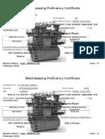 Watchkeeping Proficiency Certificate OJT TEKNIKA
