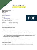 Applied Value Investing (Renjen, Oro-Hahn) FA2015