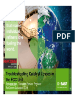 Troubleshooting Catalyst Losses in the FCC Unit Kou BASF FCCU Galveston 2016