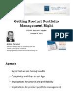 Getting Product Portfolio Management Right