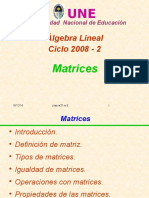 Matrices y Clases 2008