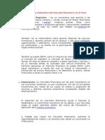 Importancia y Elementos Del Mercado Financiero en El Perú (Parte 1)