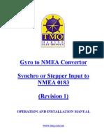 Gyro to NMEA Convertor Manual