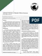 Lightweight Materials for Deepwater