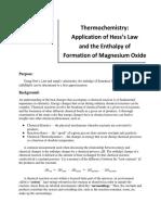 Chem 211-212 Hess's Law