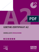 Goethe-Zertifikat A2 Modellsatz Erwachsene