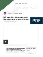 US Election_ Obama Urges Republicans to Shun Trump - BBC News
