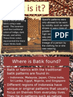 History of Batik