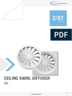 2 s7 Ceiling Swirl Diffuser Dk