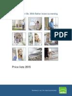 Price Lists 04-2015