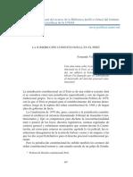 LA JURISDICCIÓN CONSTITUCIONAL EN EL PERÚ