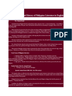 A Brief History of Philippine Literature in English