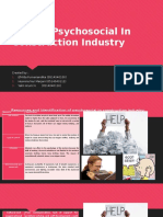 Hazard Psychosocial in Construction Industry
