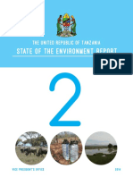 Tanzania 2nd State of the Envrionemnt Report 2014
