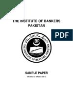 SBP-BSC-OG-I 6th Batch- Sample Paper