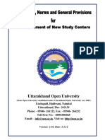 Process Handbook for the Opening of Study Centre