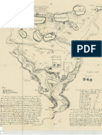 Taliaferro map of the Fort Snelling area drawn by Lawrence Taliaferro.