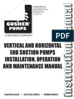 Vertical Suction Pumps Instalation