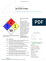 Chemical Storage Color Codes