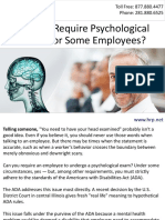 Can You Require Psychological Exams for Some Employees?