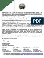 Ohio House GOP Veterans Letter to Gov. Strickland