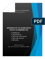 Densidad (Pesos Volumétricos) de Los Agregados - Axel Martínez Nieto