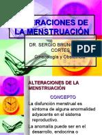 alteraciones Menstruacion
