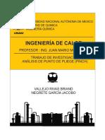 Investigacion Tecnologia Pinch (Analisis Del Punto Pinch)Ingenieria de Calor