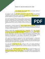 Brief Historical Summary of Land Reform