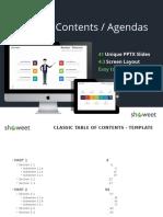Table Contents Agenda Showeet(Standard)