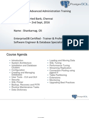 Course Material Postgresql   Postgre Sql   Databases