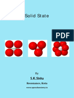 Solid State  / Crystalline State Chemistry