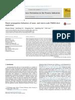 Flame propagation behaviors of nano- and micro-scale PMMA dust explosions