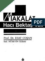 Hacı Bektaş-ı Veli _ M. Esad Coşan Makalat-ı Hacı Bektaş-ı Veli