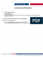 Resume & Cover Letter Writing Handout 3