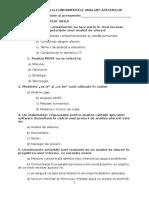 Teste Examen Bazele Analizei Afacerilor