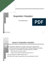 Acquisition Valuation