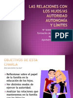 AUTORIDAD, AUTONOMÍA Y LÍMITES