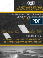 PLANIFICACION Y ORGANIZACION DE OBRAS DE TRANSPORTE