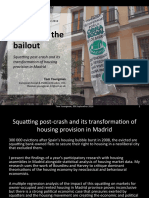 Squatting post-crash and its transformation of housing provision in Madrid [IIPPE 9th Sep 2016]